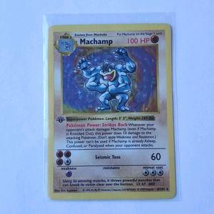 1st Edition Shadowless NM Holo Machamp 8/102